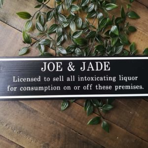 Personalised Family Bar Sign