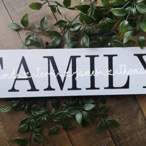 Personalised Family Plaque